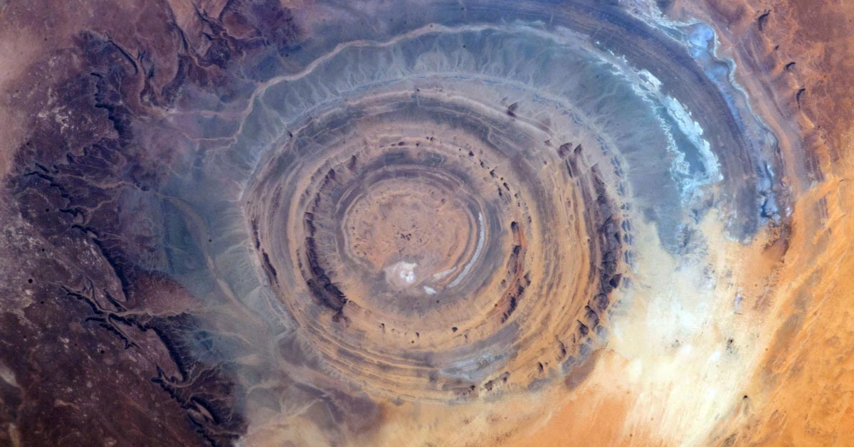 The eye of Sahara