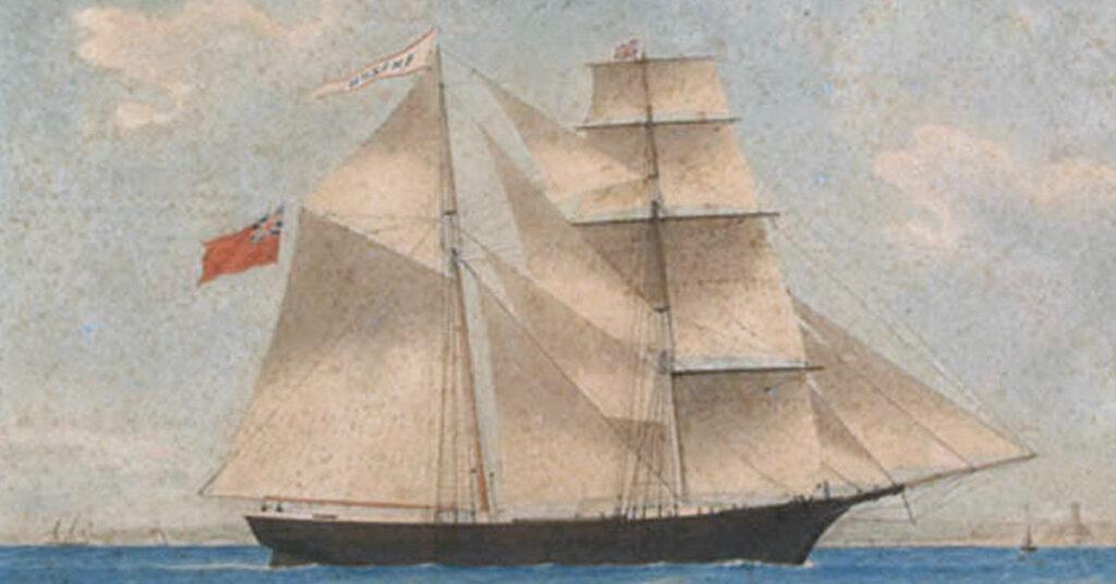 The mysterious ship Mary Celeste